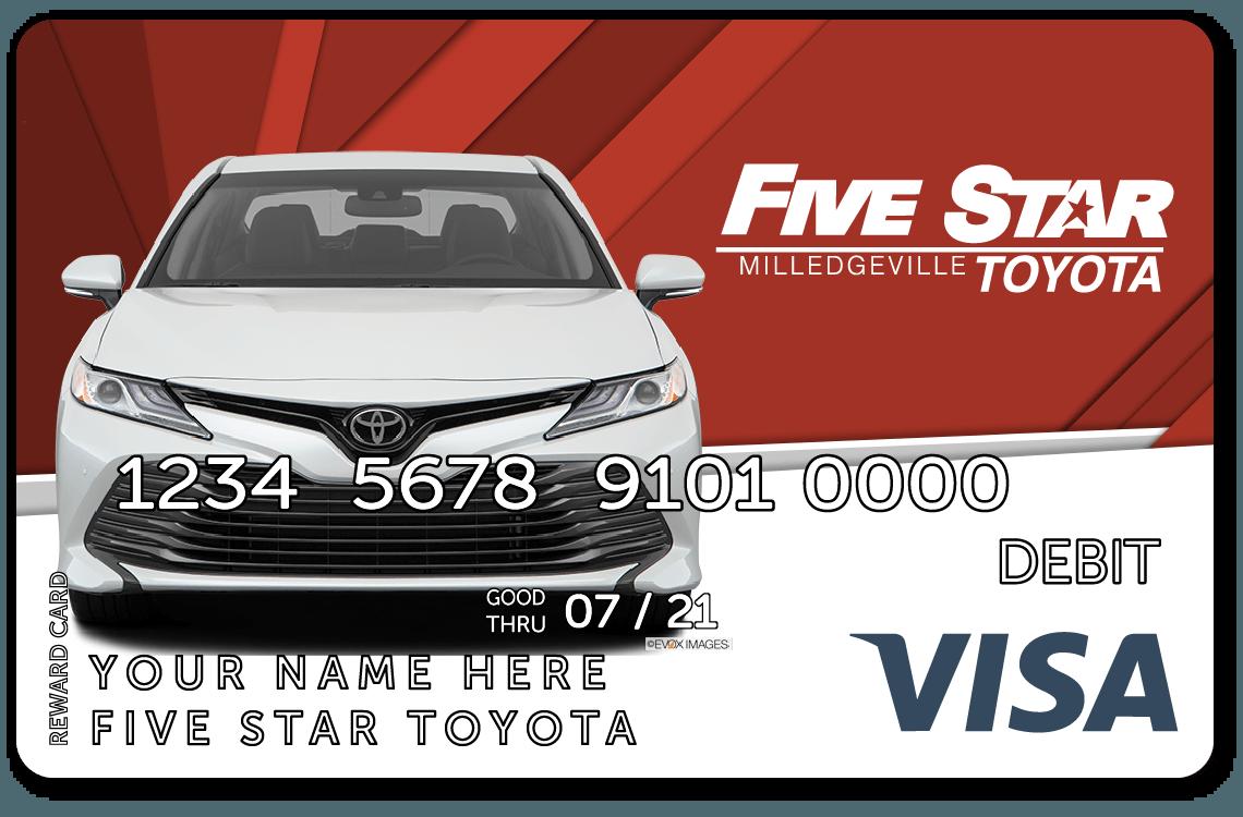 A 25 visa reward card